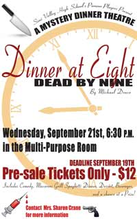 Dinner at Eight, Dead by Nine